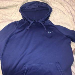 Dry-Fit Indigo/purple Nike hoodie
